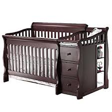 Convertible Crib Espresso Sorelle Princeton 4 In 1 Convertible Crib Changer