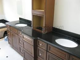 Bathroom Granite Vanity Top China Absolute Black Granite Vanity Tops