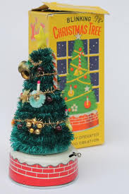 50s japan vintage blinking tree battery operated