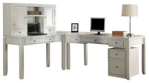 White L Shape Desk Exellent L Shaped Desk With Hutch White Ldesk Office Set To Design