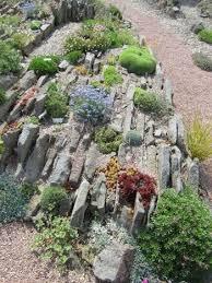 Rock Garden Society Crevice Garden At The Alpine Garden Society Garden In Pershore