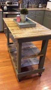 rustic kitchen islands and carts rustic pallet kitchen island cart with adjustable shelf and wheels
