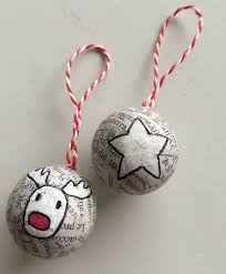 newspaper rudolph ornaments crafts