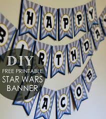 diy star wars birthday banner free printables batman party