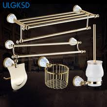 Bathroom Hardware Sets Popular Crystal Bathroom Accessories Buy Cheap Crystal Bathroom