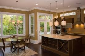 champagne gold paint with area rug kitchen contemporary and