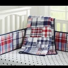 Plain Crib Bedding Best Pottery Barn Madras Plain Crib Bedding Includes Quilt