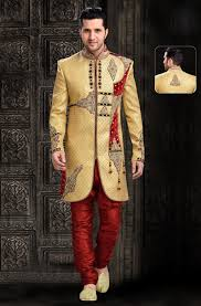 indian wedding groom golden sherwanis for groom shopping online gold color wedding