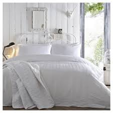 buy white seersucker duvet set double duvet set from our double