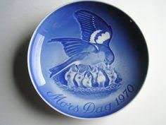mothers day plate 1984 and grondahl copenhagen porcelain