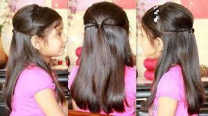indian kids hairstyles for girls party hairstyle with