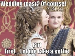 Purple Wedding Meme - purple wedding selfie quickmeme