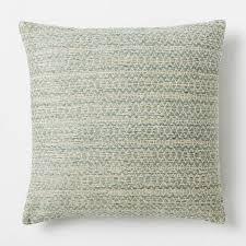 silk stacked diamonds cushion cover light sage west elm au