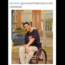 Drake Wheelchair Meme - drake wheelchair meme eminem wheelchair best of the funny meme