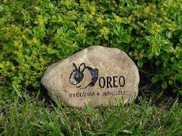 pet memorial garden stones rabbit memorial garden stones and rabbit pet grave markers