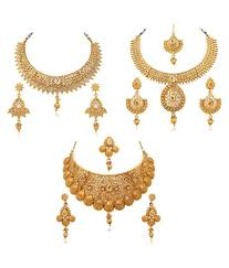 fashion jewelry necklace set images Rg fashions jewellery golden necklace set set of 3 buy rg jpg