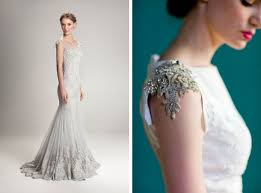 fully beaded wedding dress with cap sleeves sang maestro