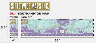 Map Of Hamptons New York by Streetwise Southampton Map Laminated City Street Map Of