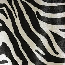 chester zebra print vinyl faux leather upholstery fabric by yard