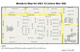 map usj 2 crime map for usj13