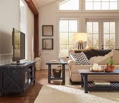 Vantage Side Table RUSTIC BLACK  AptB - Vantage furniture