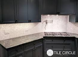 groutless kitchen backsplash beautiful backsplash using micro mosaic of pearl tile by