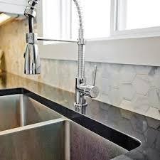 marble hex tile backsplash design ideas