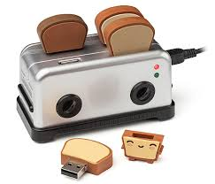 Bread Shaped Toaster Usb Toaster Hub And Thumbdrives Thinkgeek