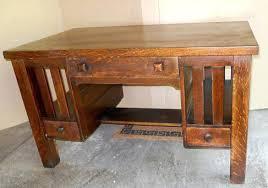 antique mission oak desk antique arts crafts mission style oak