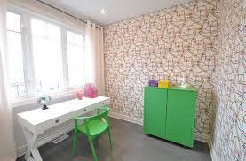 papier peint bureau contemporain avec papier peint géométrique