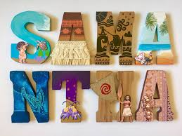 themed letters moana themed letters home decor party decorations wood