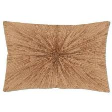 Jaime Metallic Copper Decorative Throw Pillow