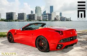 Ferrari California Custom - california savini wheels