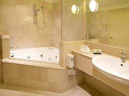 spa bathroom decorating ideas captivating spa bathroom decor with traingle shape white bathtub