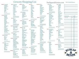 grocery list maker with prices grocery list template