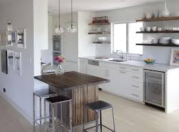 floating shelves design kitchen contemporary with wall treatment