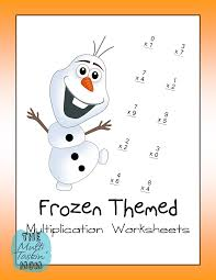 Images Of Math Worksheets Frozen Themed Math Worksheets Freebie