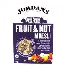 cuisine 750g jordans special fruit nut muesli 750g wholesale food