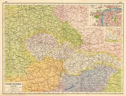 bohemia map czechoslovakia w carpathian ruthenia prague praha bohemia
