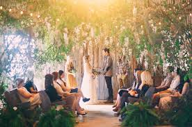 wedding ceremony canopy whimsical bohemian wedding inspiration