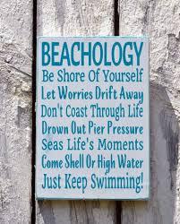 beach sign beachology new unique beach house wooden plaque rules