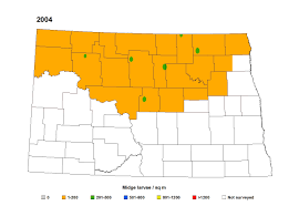 Nd Map Nd Wheat Midge Risk Maps U2014 Extension Entomology