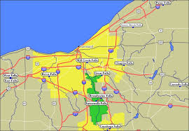 map of cleveland map of cleveland area waterfalls