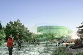 competition entry saucier perrotte designs glass pavilion for