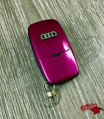pink audi fuchsia gloss key wrap cover overlay audi remote a1 a2 a3 a4 a5 a6
