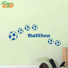compare prices on sport stickers football online shopping buy low dctop sports wall stickers football customized name wall art boys bedroom decals for kids rooms