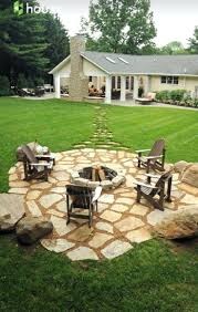 Cost Of Brick Paver Patio Patio Ideas Stepping Stones Out To The Fire Pit In The Far