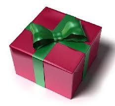 Image of a christmas present in a nice box