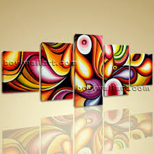 colorful wall art living room decoration ideas modern abstract