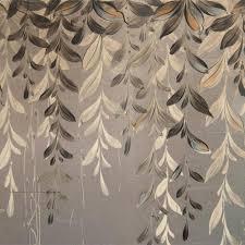 vines regency hand painted silver leaf sideboard kathy kuo home